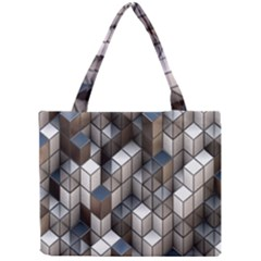 Cube Design Background Modern Mini Tote Bag