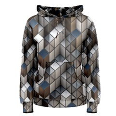 Cube Design Background Modern Women s Pullover Hoodie