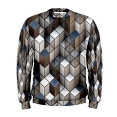 Cube Design Background Modern Men s Sweatshirt