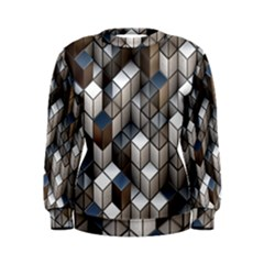 Cube Design Background Modern Women s Sweatshirt