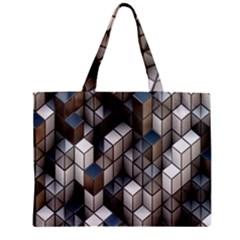 Cube Design Background Modern Zipper Mini Tote Bag