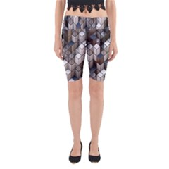 Cube Design Background Modern Yoga Cropped Leggings
