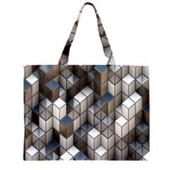 Cube Design Background Modern Large Tote Bag