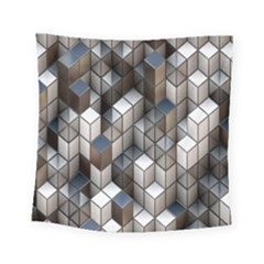 Cube Design Background Modern Square Tapestry (small)