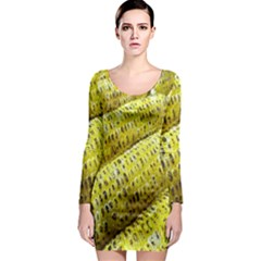 Corn Grilled Corn Cob Maize Cob Long Sleeve Bodycon Dress