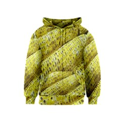 Corn Grilled Corn Cob Maize Cob Kids  Zipper Hoodie