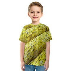 Corn Grilled Corn Cob Maize Cob Kids  Sport Mesh Tee