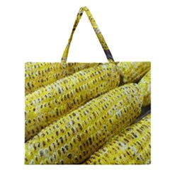 Corn Grilled Corn Cob Maize Cob Zipper Large Tote Bag