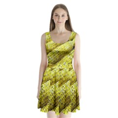 Corn Grilled Corn Cob Maize Cob Split Back Mini Dress