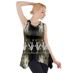Daisy Bird  Side Drop Tank Tunic