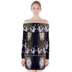 Daisy Bird  Long Sleeve Off Shoulder Dress