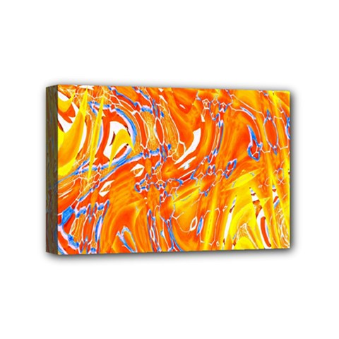 Crazy Patterns In Yellow Mini Canvas 6  X 4