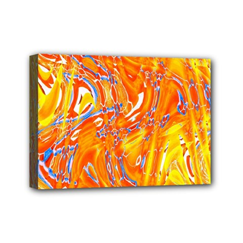 Crazy Patterns In Yellow Mini Canvas 7  x 5