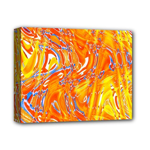 Crazy Patterns In Yellow Deluxe Canvas 14  x 11