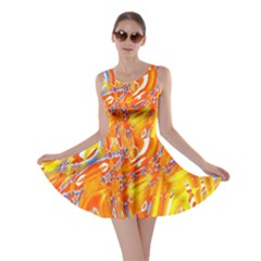 Crazy Patterns In Yellow Skater Dress