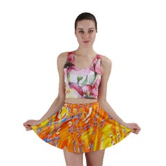Crazy Patterns In Yellow Mini Skirt