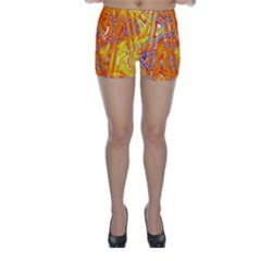 Crazy Patterns In Yellow Skinny Shorts