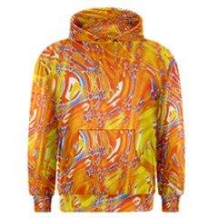 Crazy Patterns In Yellow Men s Pullover Hoodie