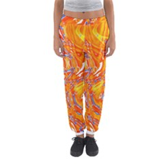 Crazy Patterns In Yellow Women s Jogger Sweatpants