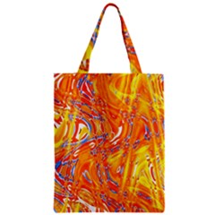 Crazy Patterns In Yellow Zipper Classic Tote Bag