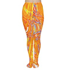 Crazy Patterns In Yellow Women s Tights