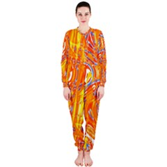 Crazy Patterns In Yellow Onepiece Jumpsuit (ladies)