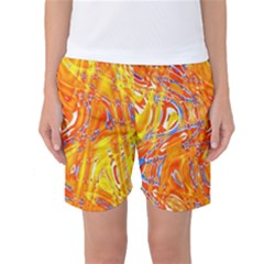 Crazy Patterns In Yellow Women s Basketball Shorts
