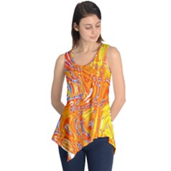 Crazy Patterns In Yellow Sleeveless Tunic
