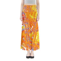 Crazy Patterns In Yellow Maxi Skirts