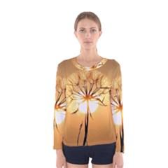 Dandelion Sun Dew Water Plants Women s Long Sleeve Tee