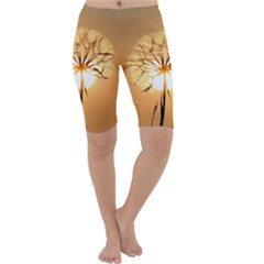 Dandelion Sun Dew Water Plants Cropped Leggings