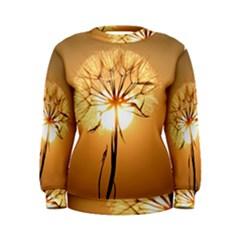 Dandelion Sun Dew Water Plants Women s Sweatshirt