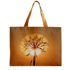 Dandelion Sun Dew Water Plants Zipper Mini Tote Bag