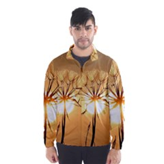 Dandelion Sun Dew Water Plants Wind Breaker (Men)