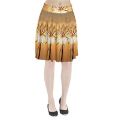 Dandelion Sun Dew Water Plants Pleated Skirt