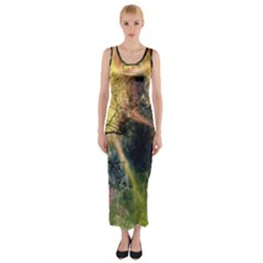 Decoration Decorative Art Artwork Fitted Maxi Dress