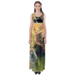 Decoration Decorative Art Artwork Empire Waist Maxi Dress