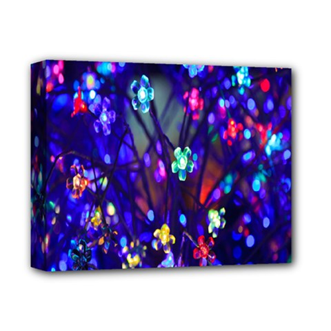 Decorative Flower Shaped Led Lights Deluxe Canvas 14  X 11