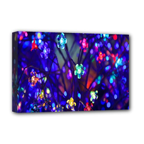 Decorative Flower Shaped Led Lights Deluxe Canvas 18  X 12