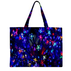 Decorative Flower Shaped Led Lights Zipper Mini Tote Bag