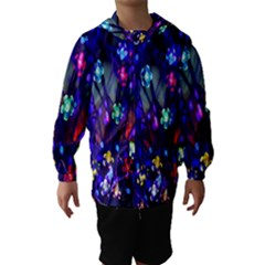 Decorative Flower Shaped Led Lights Hooded Wind Breaker (Kids)