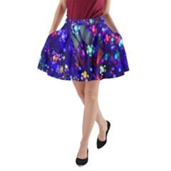 Decorative Flower Shaped Led Lights A-Line Pocket Skirt