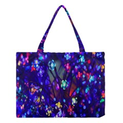 Decorative Flower Shaped Led Lights Medium Tote Bag