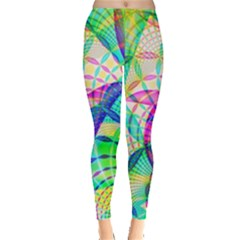 Design Background Concept Fractal Leggings