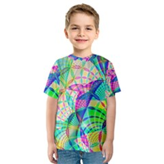 Design Background Concept Fractal Kids  Sport Mesh Tee