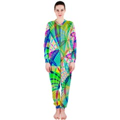Design Background Concept Fractal OnePiece Jumpsuit (Ladies)