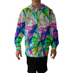 Design Background Concept Fractal Hooded Wind Breaker (Kids)