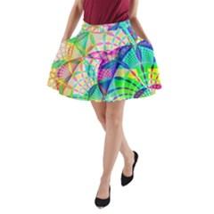 Design Background Concept Fractal A Line Pocket Skirt
