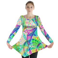 Design Background Concept Fractal Long Sleeve Tunic