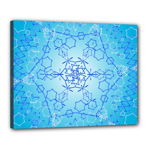 Design Winter Snowflake Decoration Canvas 20  x 16